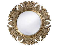 Nita Ornate Round Mirror traditional mirrors