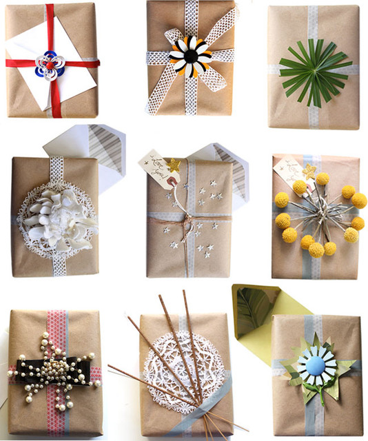 Gift Wrapping Ideas from Compai Blog eclectic