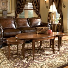Magnussen Home T1171-52 Kingston Oval Bunching Coffee Table
