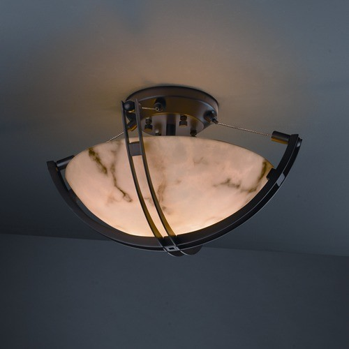 Crossbar LumenAria 2 Light Semi Flush Mount modern lighting