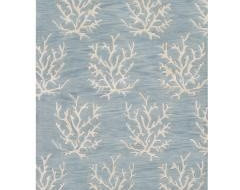 Sea coral blue white contemporary-rugs