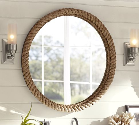 Rope Mirror contemporary-mirrors