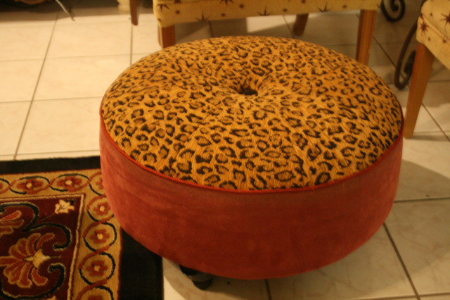 Leopard Ottoman Ottomans And Cubes Other Metro By Artistic Impressions