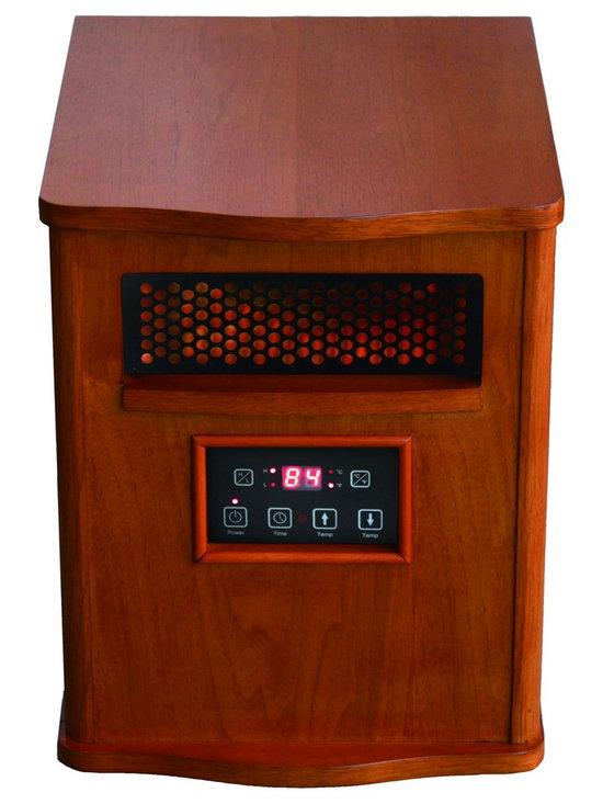 """Mini Portable Comfort Furnace in Oak - Dimensions: 16.2""""H x 12.2""""W x 14.25""""H"""