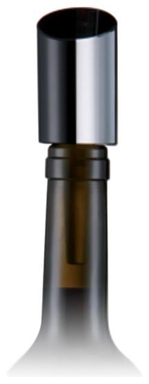Rosenthal Block Glas Black Bottle Stopper modern-wine-and-bar-tools