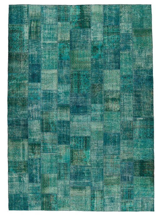 Over-dyed Turkish Patchwork Rug -