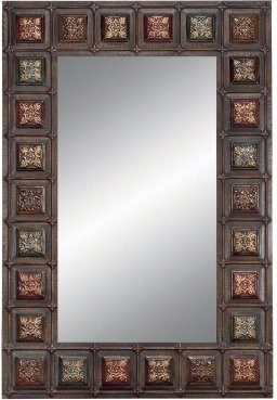 Rectangular Wall Mirror with Medallions - 30W x 44H in. modern-mirrors