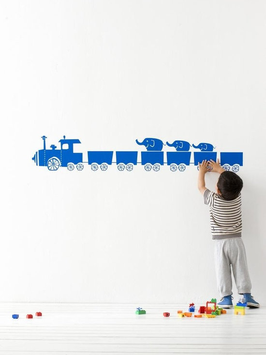 Ferm Living Tiny Train WallSticker - With Ferm Living WallStickers it is easy to create a new look and change the style in a room in a matter of minutes. By using WallStickers, your kids can also help decorate their own room in an array of colors.
