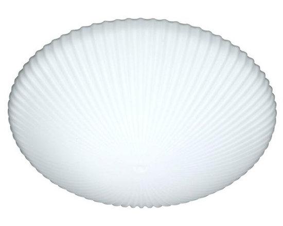 Besa Lighting 945007C Two Light White Mushroom Flush Mount -