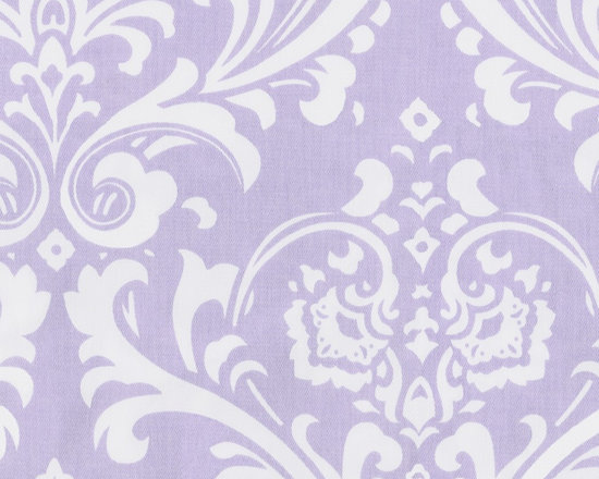 Lilac Osborne Damask - This gorgeous extra large damask print features a soft lilac background. The 7 oz. cotton twill base fabric makes this perfect for any home decor project.