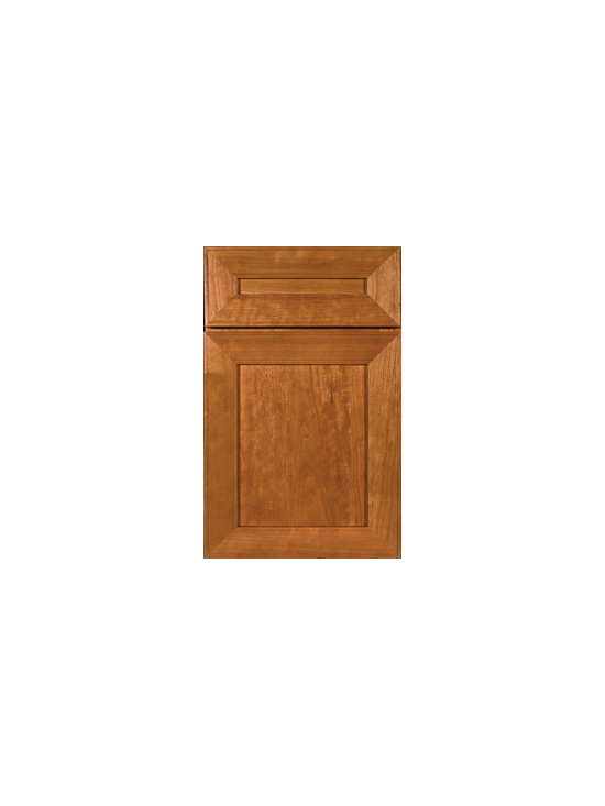 Cherry Door Styles from Wellborn Cabinet, Inc. - Sonoma's contemporary features allow your favorite works of art to be on display for all to see.