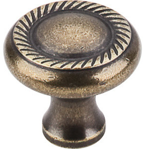 """Swirl Cut Knob 1 1/4"""" - German Bronze traditional-cabinet-and-drawer-knobs"""