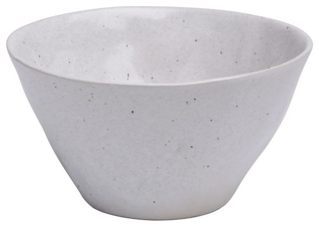 Soup/Cereal Bowl, Solid Speckled White eclectic-bowls