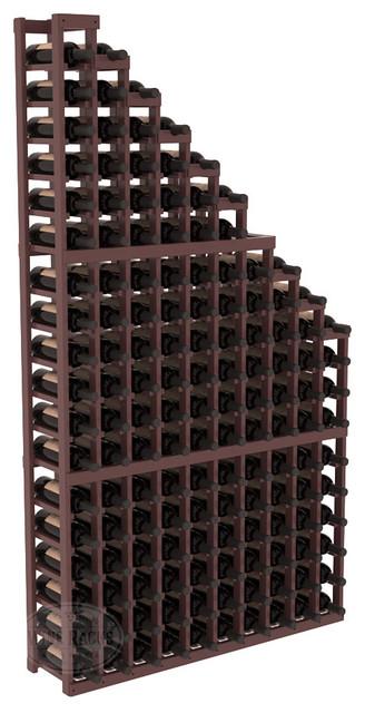 Wine Cellar Waterfall Display Kit in Pine with Walnut Stain + Satin Finish contemporary-wine-racks