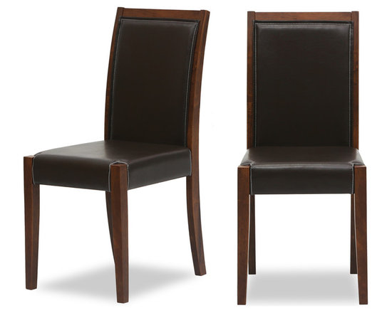 Lita Faux Leather Cocoa Dining Chair -
