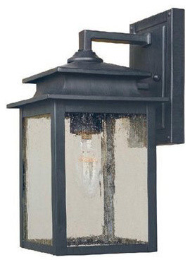 World Imports Sutton Rust Outdoor Wall Sconce traditional-outdoor-wall-lights-and-sconces