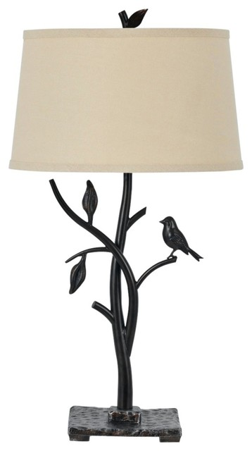 Country - Cottage Medora Iron Bird Table Lamp traditional table lamps