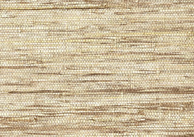Shangri La Jiao Taupe Grasscloth Wallpaper tropical-wallpaper