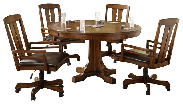 Riverside Furniture Windhaven 3 Piece Oval Dining Set With
