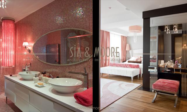 Diamond residence, İstanbul,Turkey contemporary-bathroom