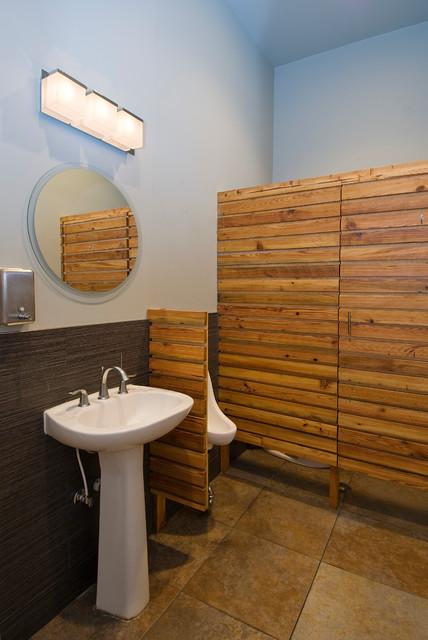 Dominique's Restaurant contemporary-bathroom