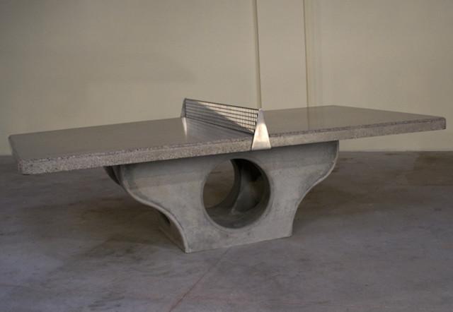 Concrete Outdoor Table Tennis Platform modern-game-tables