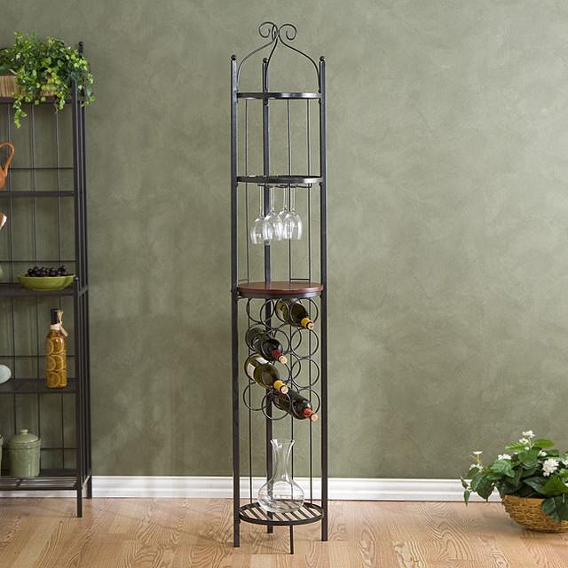 Upton Home Round Metal Wine Storage Tower - Contemporary - Wine Racks - by Overstock.com