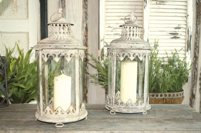 Vintage Hanging Lanterns traditional-outdoor-lighting