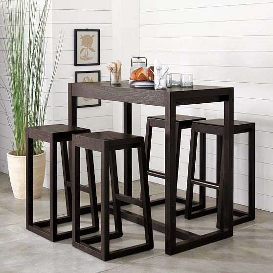 Alto Bar Table Modern Indoor Pub And Bistro Tables By West Elm