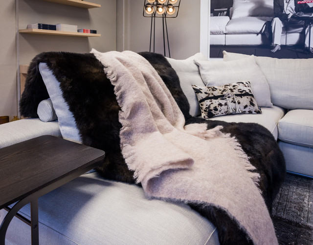 Mohair Throws and Blankets modern-throws