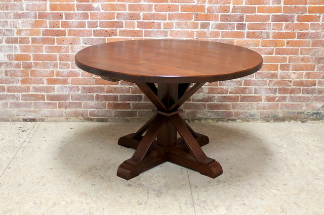 48 Round Oak Dining Table Farmhouse Dining Tables Boston By