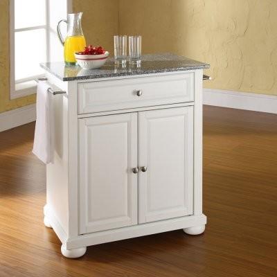 Alexandria Solid Granite Top Portable Kitchen Island modern-kitchen-islands-and-kitchen-carts