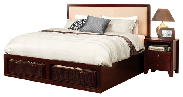 Lifestyle Solutions Gracie 5-Piece Bedroom Set in Cappuccino - California King traditional-bedroom-products