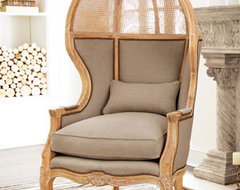 Cane Balloon Chair traditional-armchairs-and-accent-chairs
