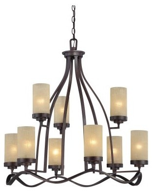 Designers Fountain 83689 Castello 9 Light Chandelier in Tuscana Finish modern chandeliers