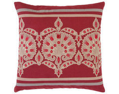 Red and Grey Pillows eclectic pillows