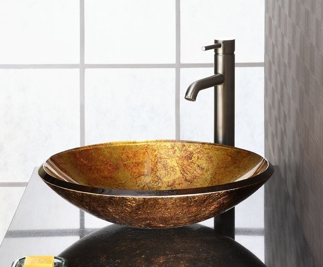 Glass Vessel Bowls : Vessel Sinks - Modern - Bathroom Sinks - denver - by PlumbingDepot
