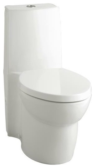 KOHLER K-3564-7 Saile Elongated One-Piece Toilet with Dual Flush Technology and traditional-toilets