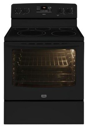 Maytag Range. AquaLift 6.2 cu. ft. Electric Range with Self-Cleaning Oven in Bla contemporary-gas-ranges-and-electric-ranges
