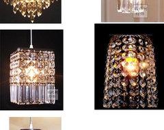 single-light-crystal chandelier contemporary-pendant-lighting