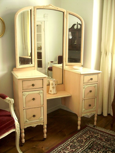Hand Painted Distressed Shabby Chic Vintage Vanities by My Paris Apartment - Traditional ...