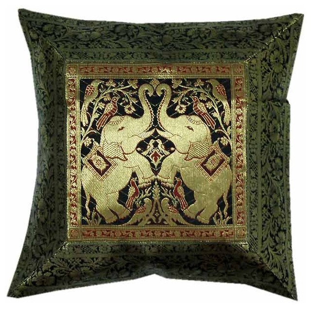 Traditional Decor Pillows : Indian decor handmade cushion pillow covers - Traditional - Decorative Pillows