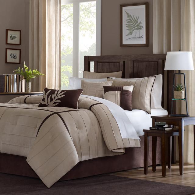 Madison Park Dune Beige/Brown 7-piece Contemporary Comforter Set contemporary-quilts