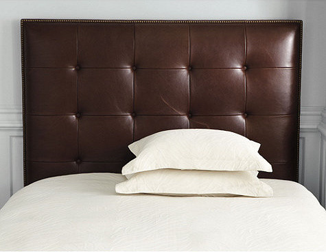 Squire Leather Headboard with Nailhead Trim traditional-headboards