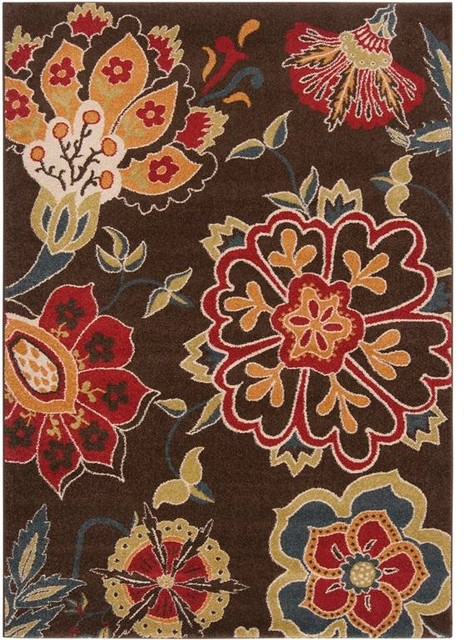 """Surya Monterey MTR-1008 5'3"""" x 7'6"""" Brown, Red Rug contemporary-rugs"""