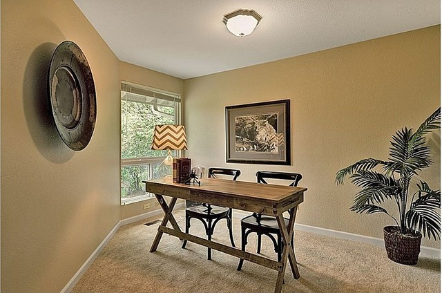 Staged Homes Contemporary Home Office Seattle By