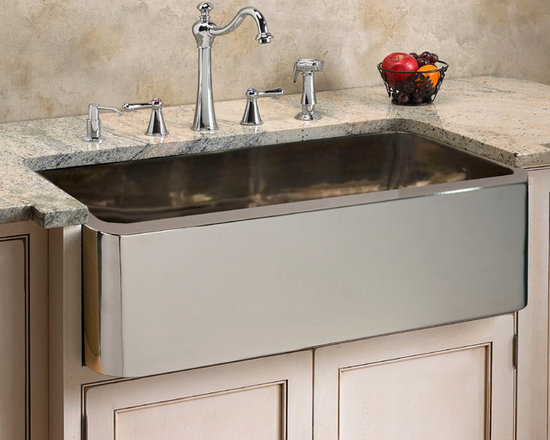 Fresh Farmhouse Sinks - Keely Nickel Plated Copper Farmhouse Sink - 33""