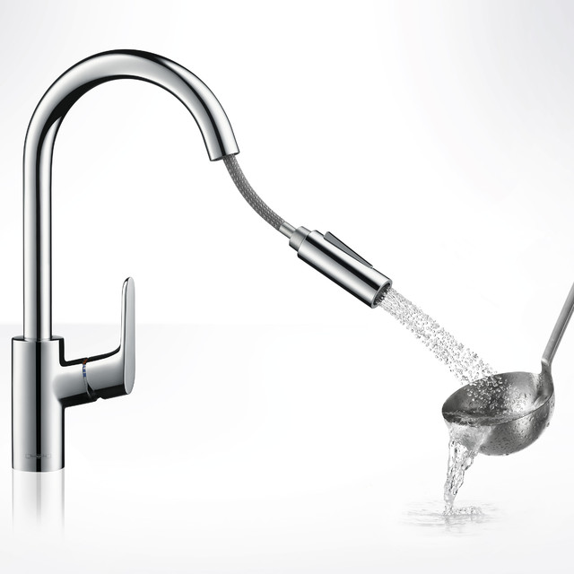 Hansgrohe Focus 2 Spray HighArc Kitchen Faucet modern-kitchen-faucets