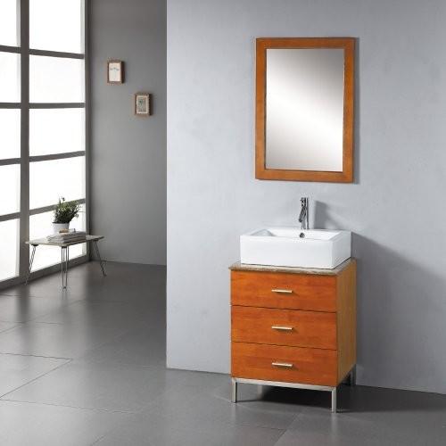 Virtu USA Elda 23-in. Oak Single Bathroom Vanity Set MS-311 contemporary-bathroom-vanities-and-sink-consoles