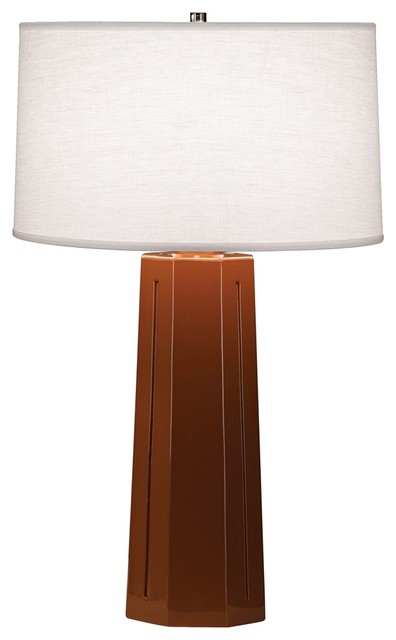 "Contemporary Robert Abbey Mason Cinnamon 26"" High Table Lamp contemporary-table-lamps"